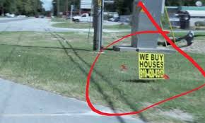 real estate investor bandit signs